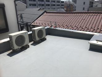 陸屋根屋上の防水状況