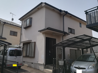 屋根塗装を検討している軒ゼロ住宅