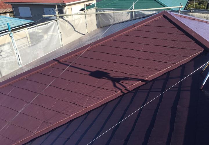 屋根塗装が竣工