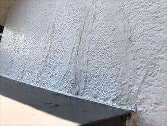 外壁にひび割れが発生