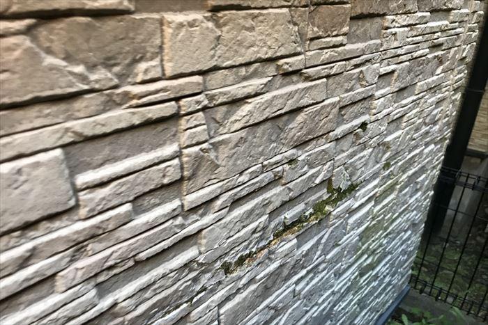 サイディング外壁の部分劣化