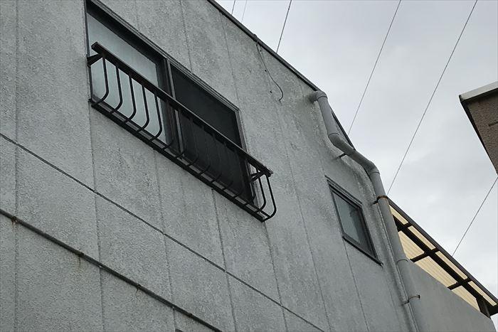 外壁パワーボードの汚れ