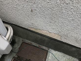 モルタル壁の剥離症状