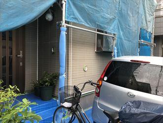 玄関周りのシーリングの補修工事