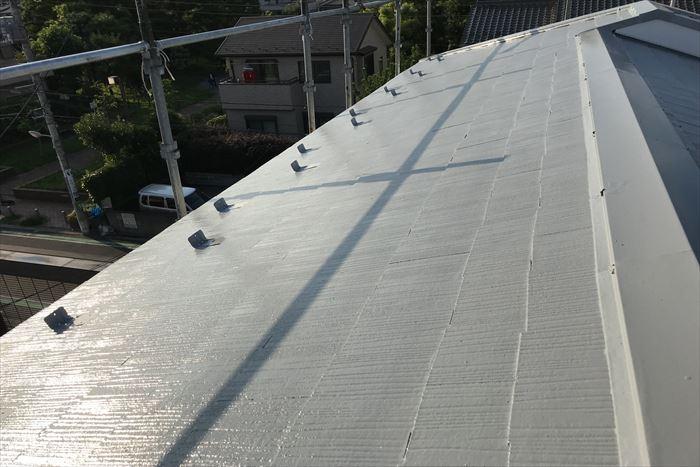 屋根塗装が終了