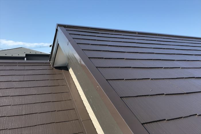 綺麗に仕上がった屋根