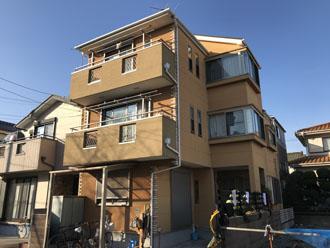 築15年になり塗装メンテナンスを検討している3階建て邸宅