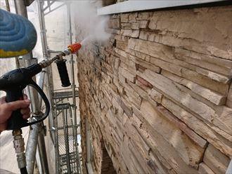 外壁タイル面の洗浄