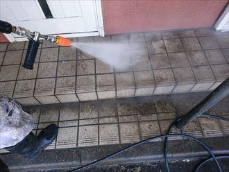 玄関アプローチ洗浄