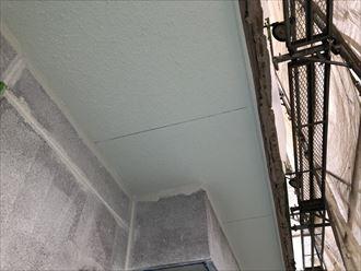 軒天塗装の完成