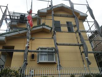 外壁塗装と屋根葺き替え工事前