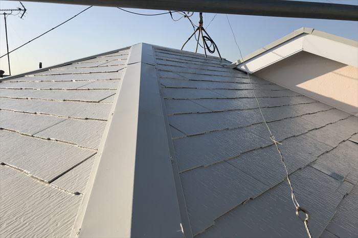 屋根塗装工事の完成です