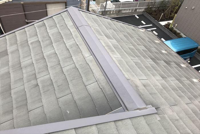 塗装施工前のスレート屋根