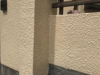 擁壁部分の塗装