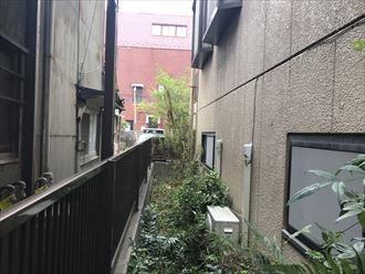 お宅の側面の外壁の状況