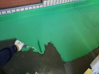 一度目のウレタン樹脂を塗装