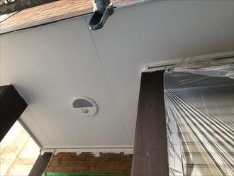 軒天塗装の完了