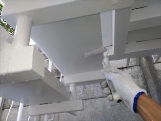 ステップ裏面の塗装