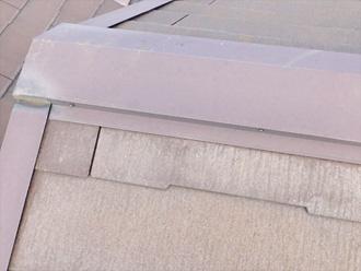 棟板金の角の傷み