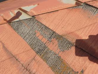 屋根塗装されていない部分