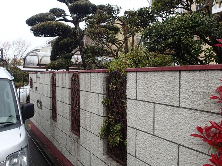 ブロック塀の様子