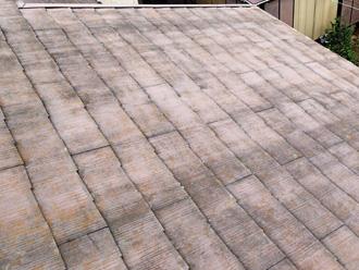 スレート屋根の塗膜劣化具合
