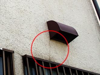モルタル外壁にクラック