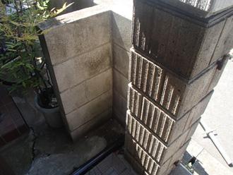塗装前の塀