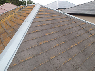 屋根塗装は初めてとのこと