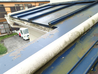 瓦棒引き屋根の状態