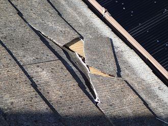 屋根スレートも限界あり。塗装が出来なくなります