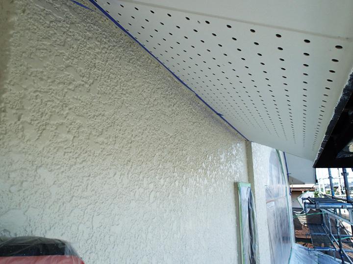 モルタル外壁塗装完了