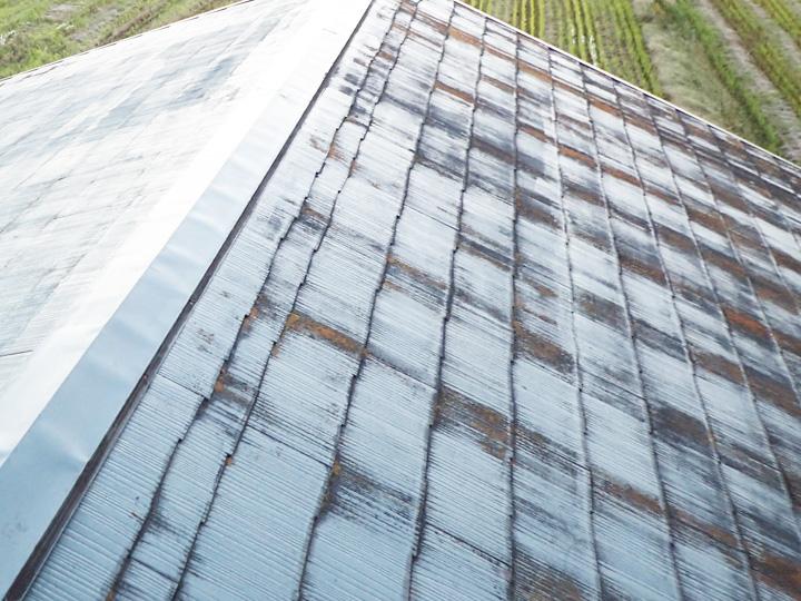 塗膜劣化したスレート屋根