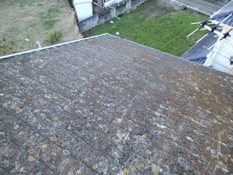 スレート屋根の塗膜の劣化