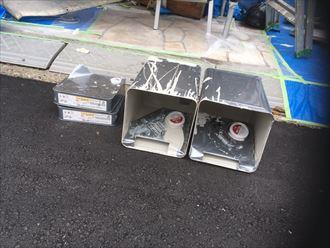 塗料の使用後の空き缶