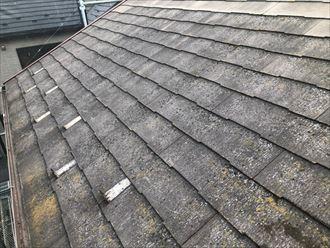 高圧洗浄実施後のスレート屋根