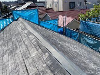 高圧洗浄後の屋根