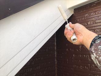 破風板塗装実施