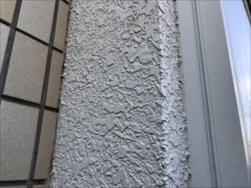 タイル吹付仕上げの外壁
