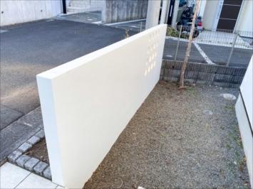 擁壁の塗装