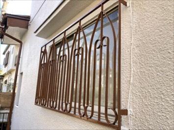 塗装後の鉄柵