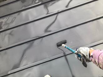 屋根上塗りで仕上げ