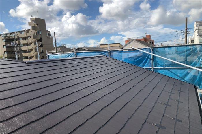 屋根塗装の完了です