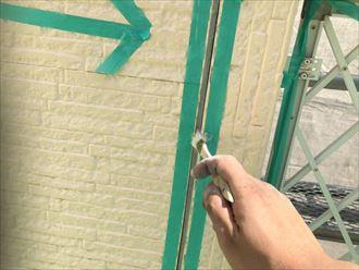 シーリング部分のプライマー塗布工程