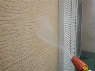 サイディング外壁の高圧洗浄