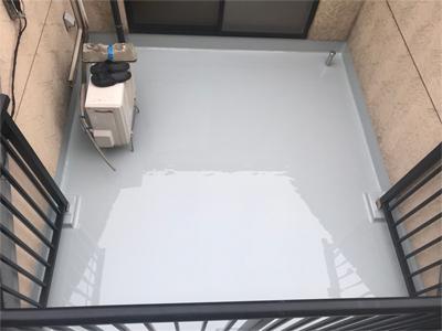 床がウレタン防水となったルーフバルコニー