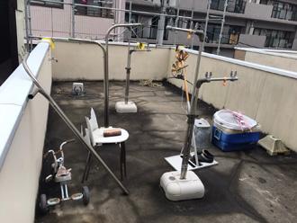 防水工事前の屋上
