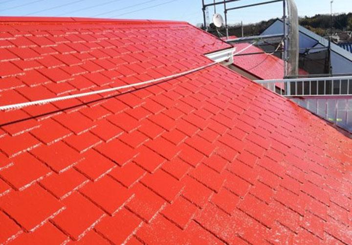 塗装後のアーバニー屋根