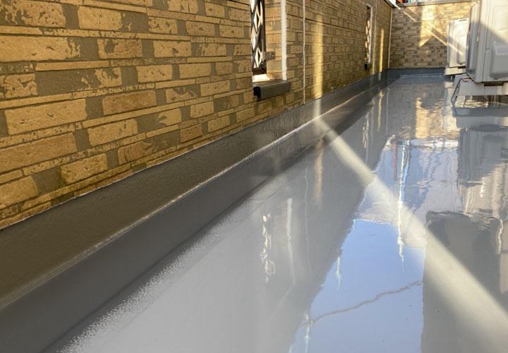 防水工事後のベランダ床