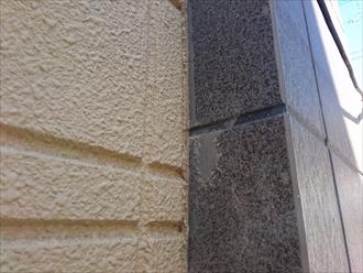 2パターンの外壁材が使用されています